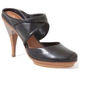 Anthropologie Leifsdotter Inga Heel Black Leather